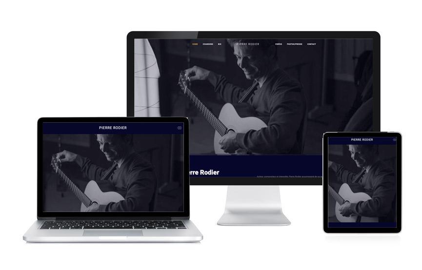 Site Wordpress de Pierre Rodier, musicien réalisé par Jane Web