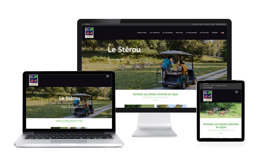 Site Wordpress et rédaction web du Stérou, parc naturel à Priziac réalisé par Jane Web