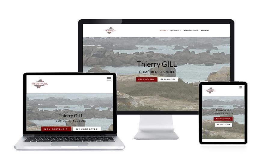Site Wordpress de Thierry Gill, comédien, doubleur, réalisé par Jane Web