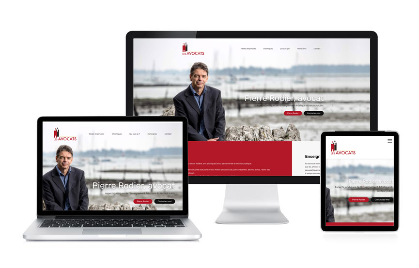 Jane Web a réalisé la refonte du site de Pierre Rodier, avocat.