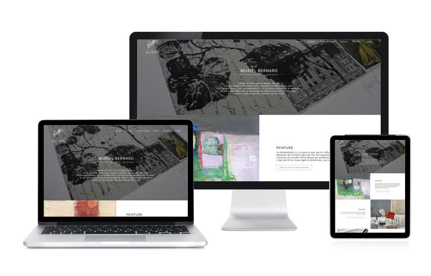 Jane Web a personnalisé un site Wordpress portfolio pour Mureil Bernard artiste-peintre et graveur à Vannes.