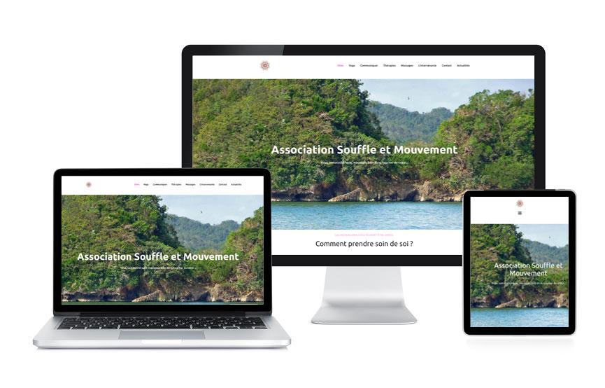 Jane Web a personnalisé un site Wordpress, vitrine de l'Association Souffle et Mouvement à Meucon.